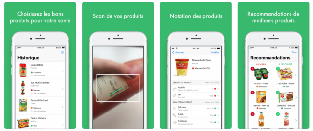 Application Yuka qui scanne votre alimentation