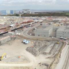 Hinkley Point – Pose de la dalle de béton pour le 1er réacteur